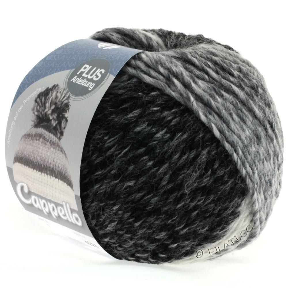 Lana Grossa CAPPELLO | 010-white/anthracite/light gray/dark gray