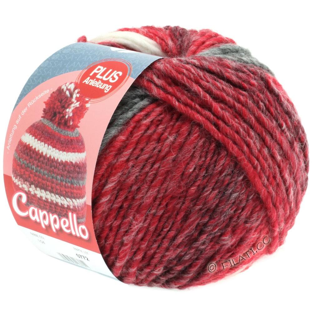 Lana Grossa CAPPELLO | 104-red/bordeaux/white/gray red mottled