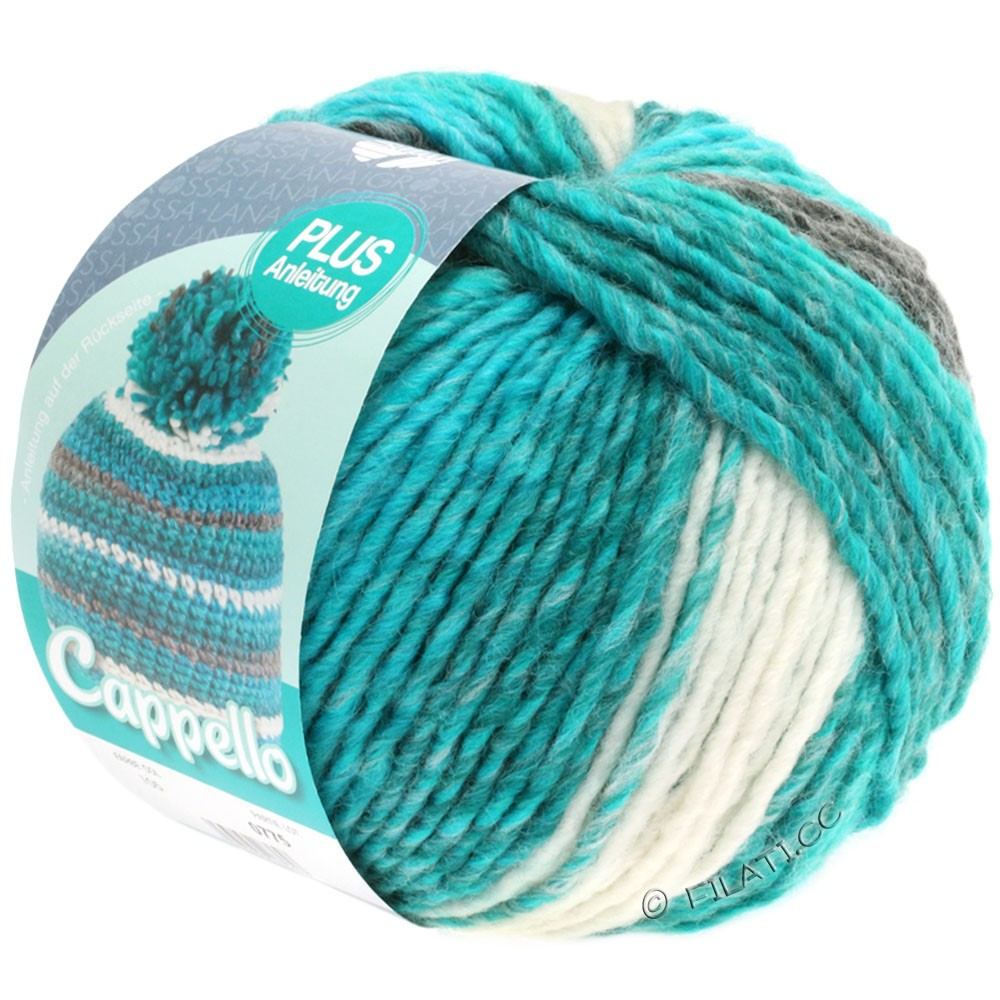 Lana Grossa CAPPELLO | 105-turquoise/weiß/anthracite mix