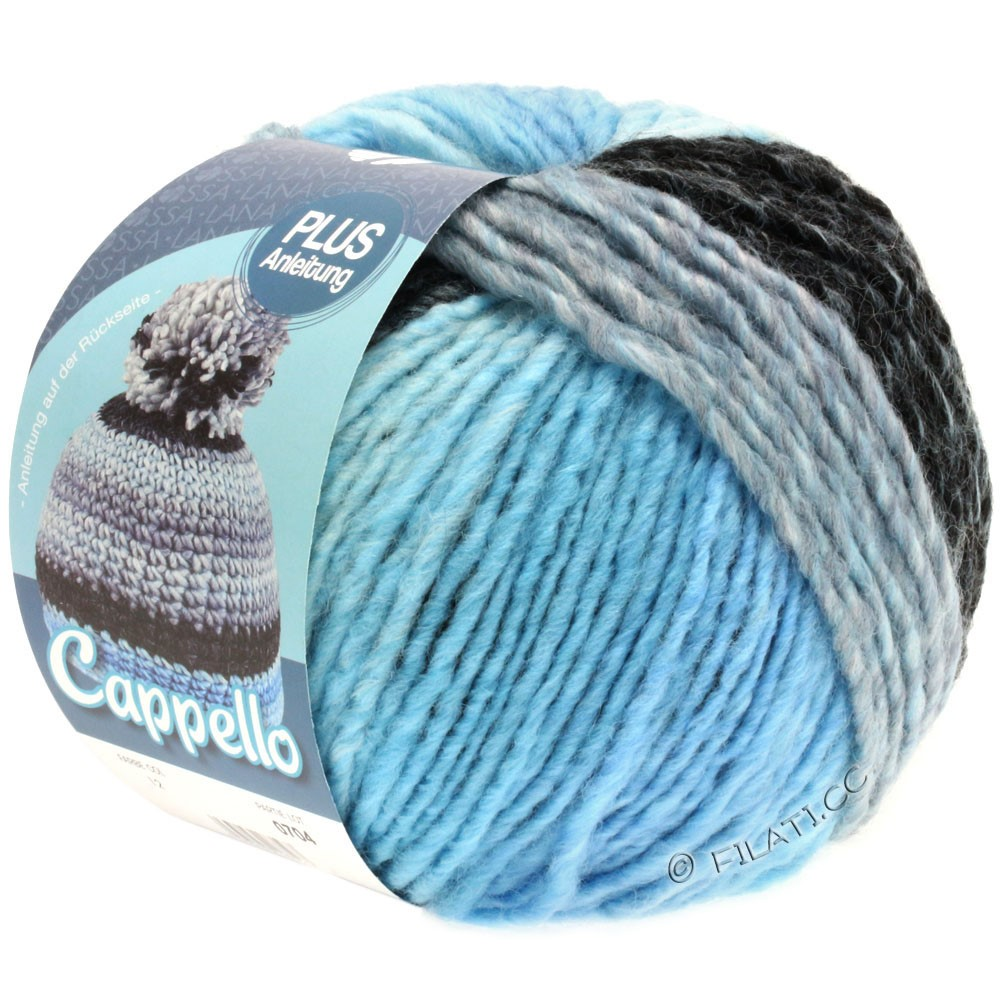 Lana Grossa CAPPELLO | 012-pale blue/light blue/anthracite