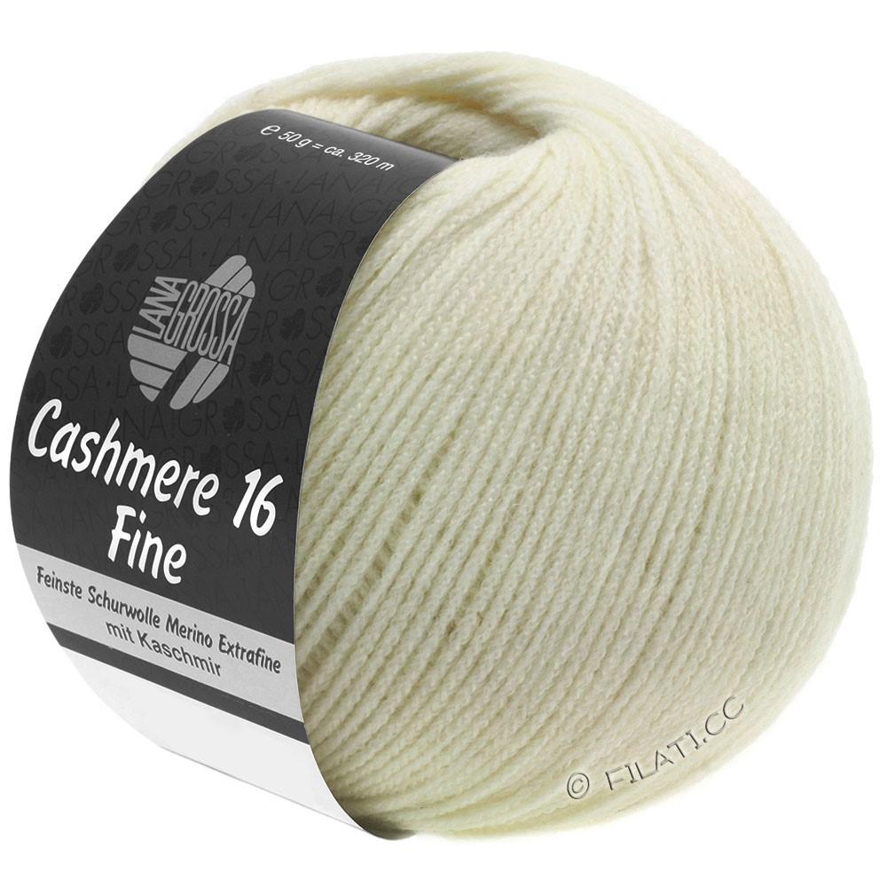Lana Grossa CASHMERE 16 FINE Uni/Degradè | 009-raw white