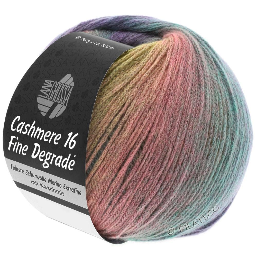 Lana Grossa CASHMERE 16 FINE Uni/Degradè | 101-lilac/reed/turquoise