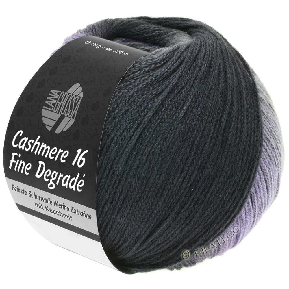 Lana Grossa CASHMERE 16 FINE Uni/Degradè | 102-dark gray/anthracite/black