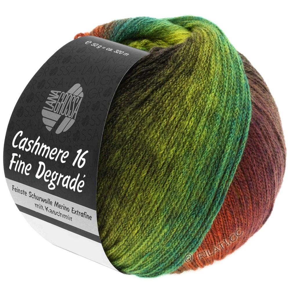 Lana Grossa CASHMERE 16 FINE Uni/Degradè | 103-red brown/olive/jade green