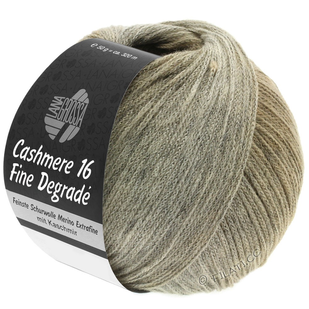 Lana Grossa CASHMERE 16 FINE Uni/Degradé | 107-grège/beige/camel