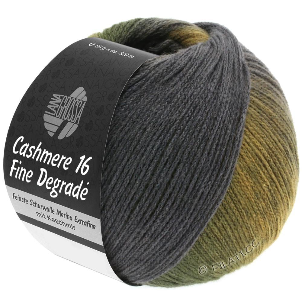 Lana Grossa CASHMERE 16 FINE Uni/Degradé | 108-amber/khaki/dark green/dark gray/gray purple