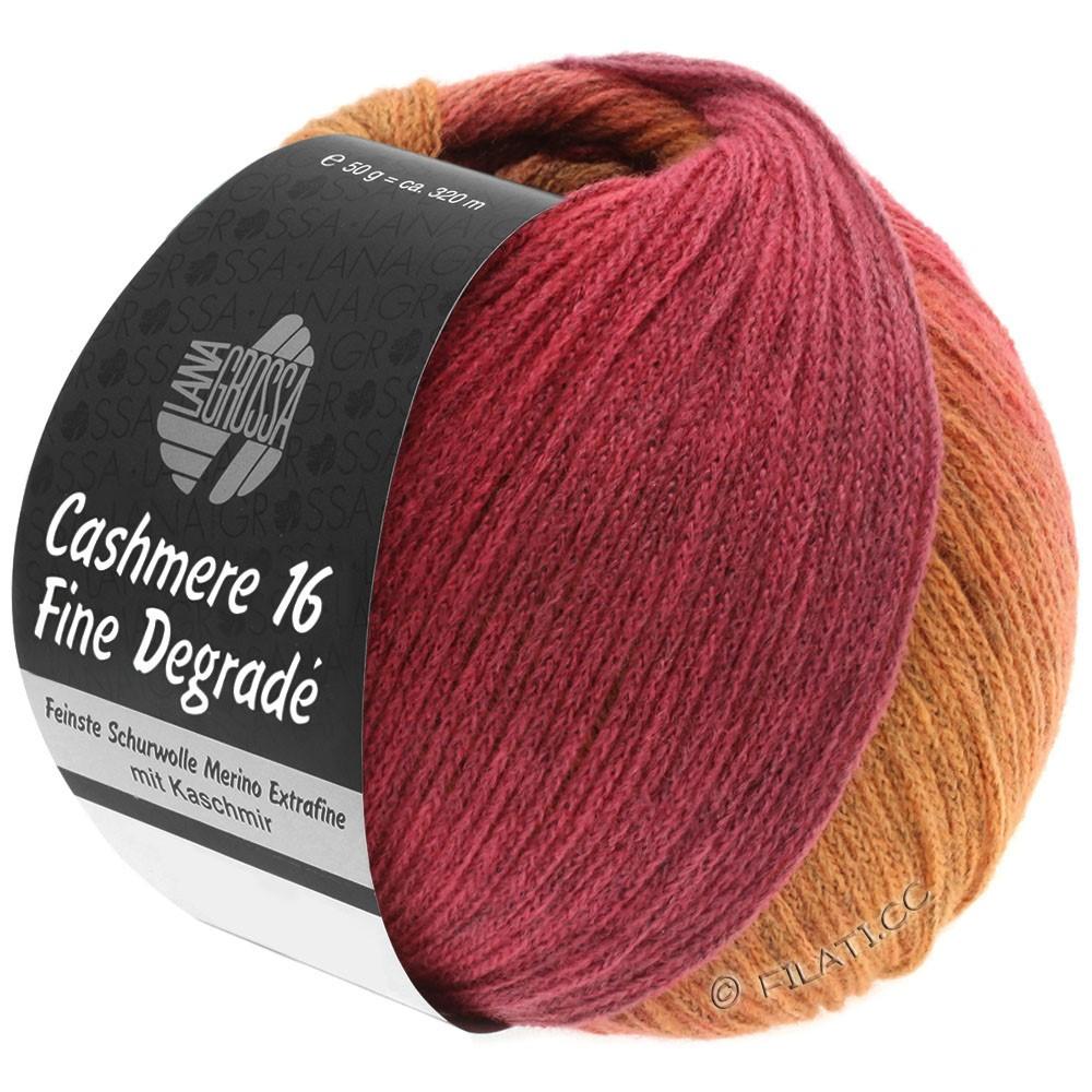 Lana Grossa CASHMERE 16 FINE Uni/Degradé | 109-orange/pink/raspberry/antique pink
