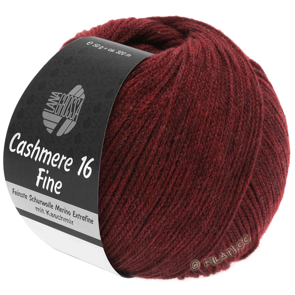 Lana Grossa CASHMERE 16 FINE Uni/Degradè | 011-dark red