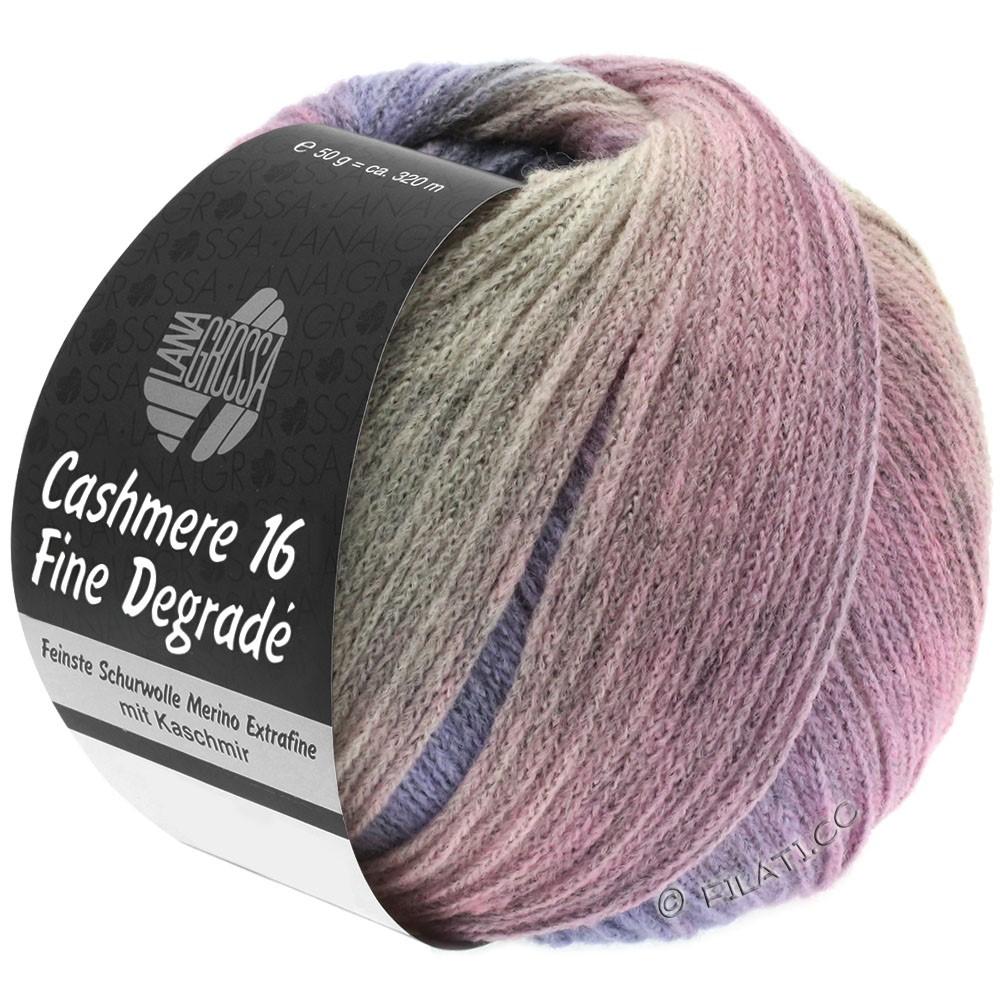 Lana Grossa CASHMERE 16 FINE Uni/Degradé | 110-gray rose/purple/rose
