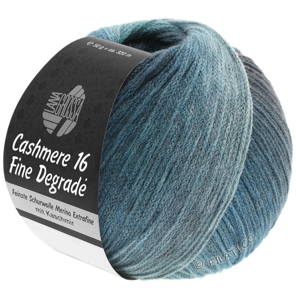 Lana Grossa CASHMERE 16 FINE Uni/Degradé | 111-petrol blue/steel blue/mint