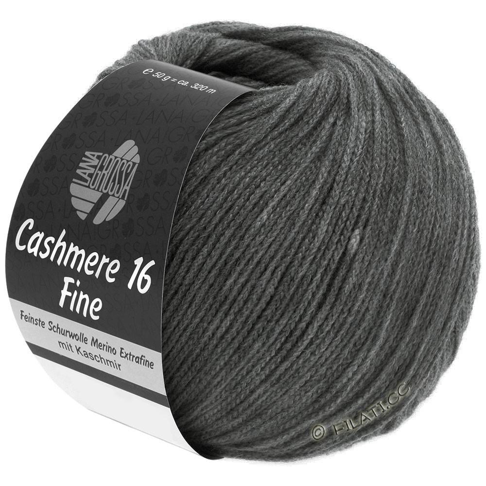 Lana Grossa CASHMERE 16 FINE Uni/Degradè | 016-dark gray