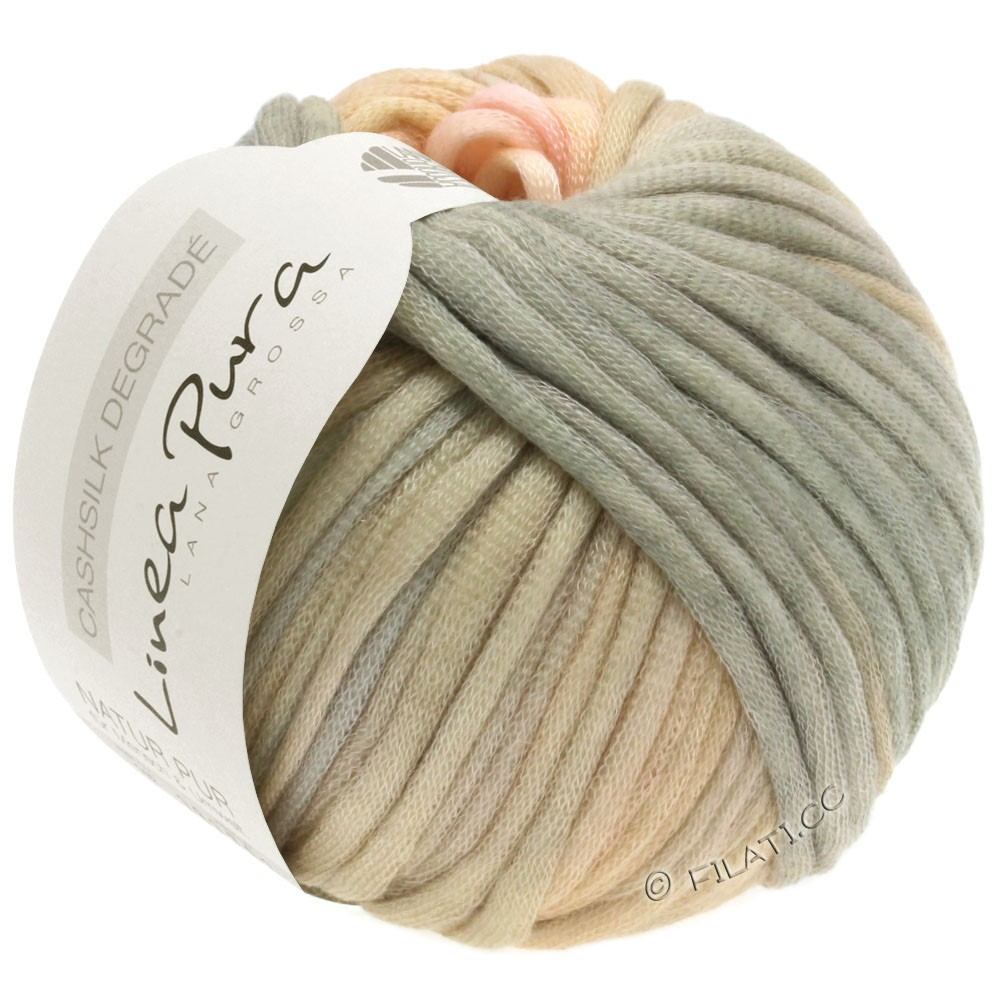 Lana Grossa CASHSILK Degradé (Linea Pura) | 109-rosé/peach/beige/green gray