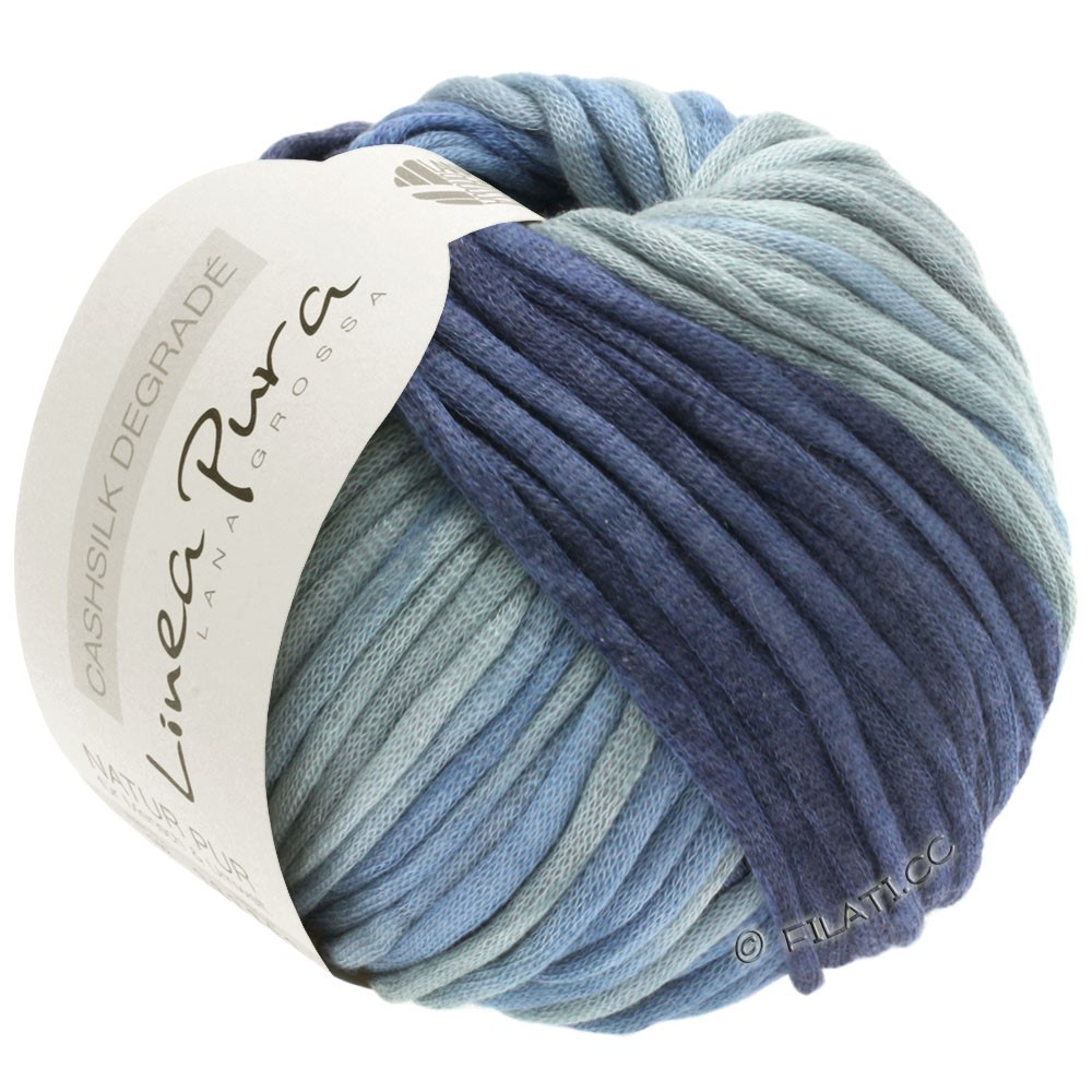 Lana Grossa CASHSILK Degradé (Linea Pura) | 111-blue gray/jeans/steel blue/night blue