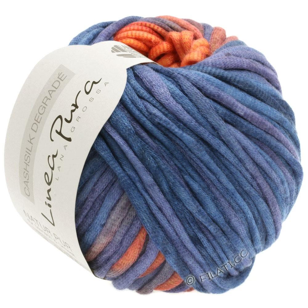 Lana Grossa CASHSILK Degradé (Linea Pura) | 112-orange/blue purple/plum blue/bordeaux