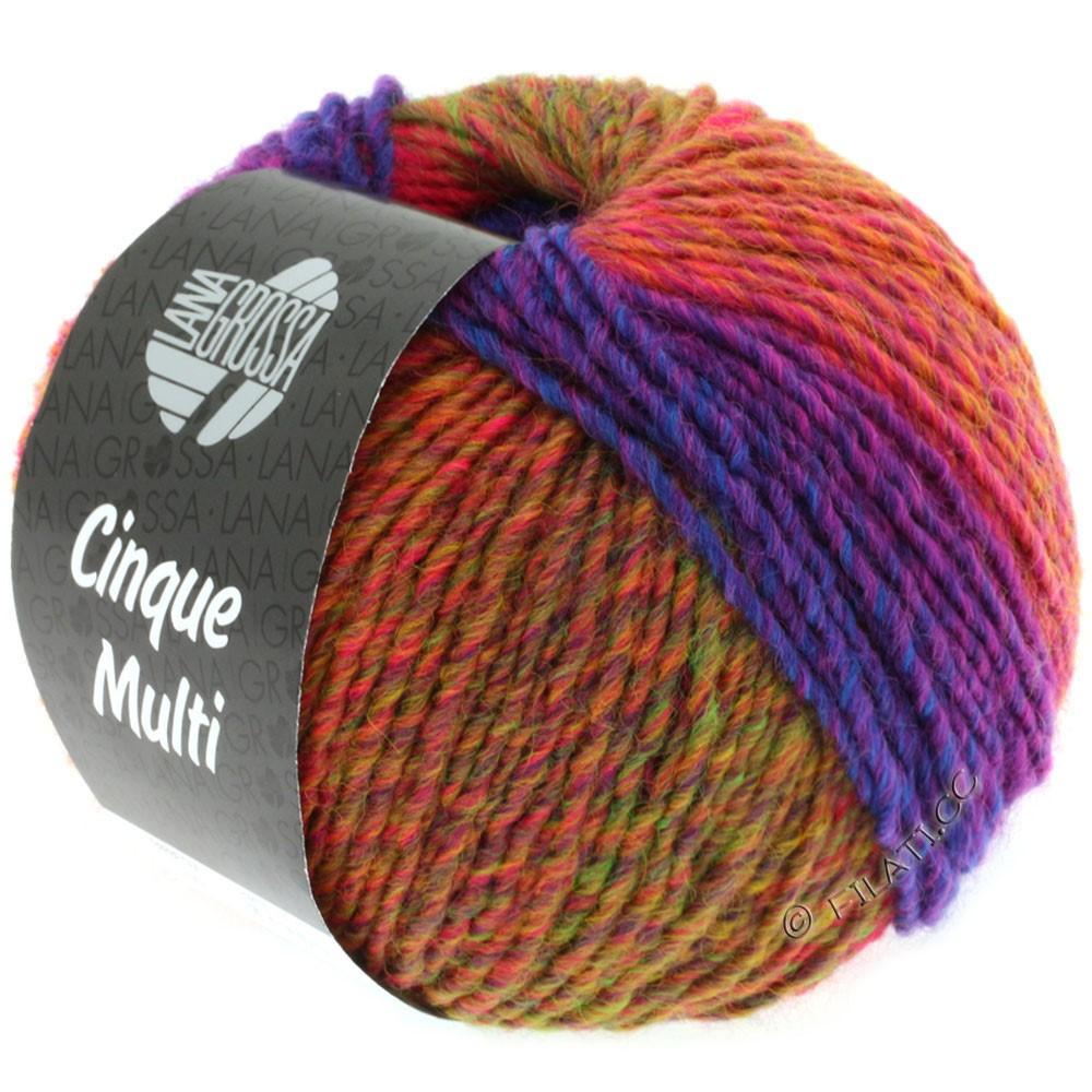 Lana Grossa CINQUE MULTI | 01-red violet/blue/green/orange mottled