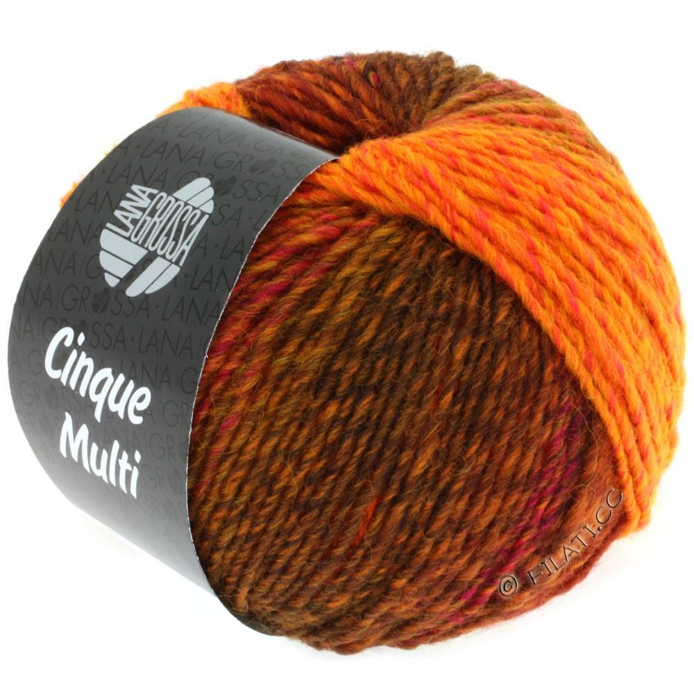 Lana Grossa CINQUE MULTI | 03-red/orange/pink/burgundy mottled