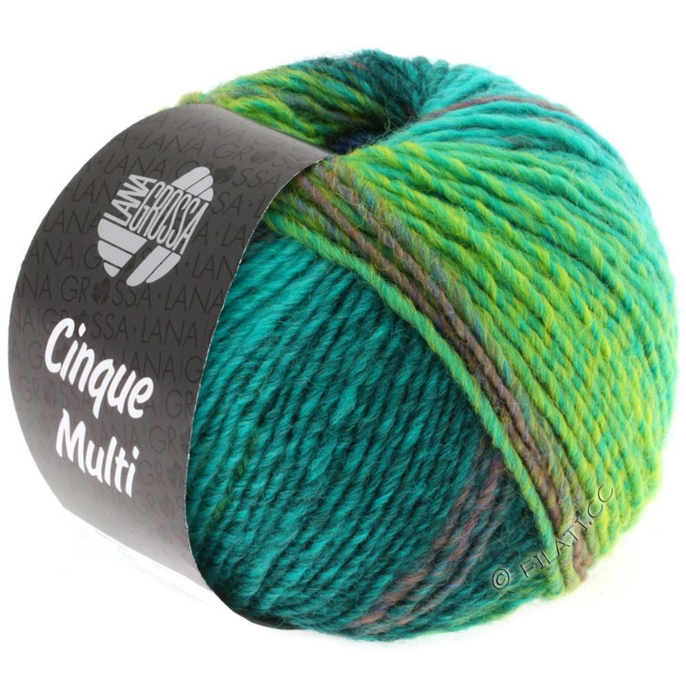 Lana Grossa CINQUE MULTI | 08-blue/turquoise/petrol/dark green/mustard mottled