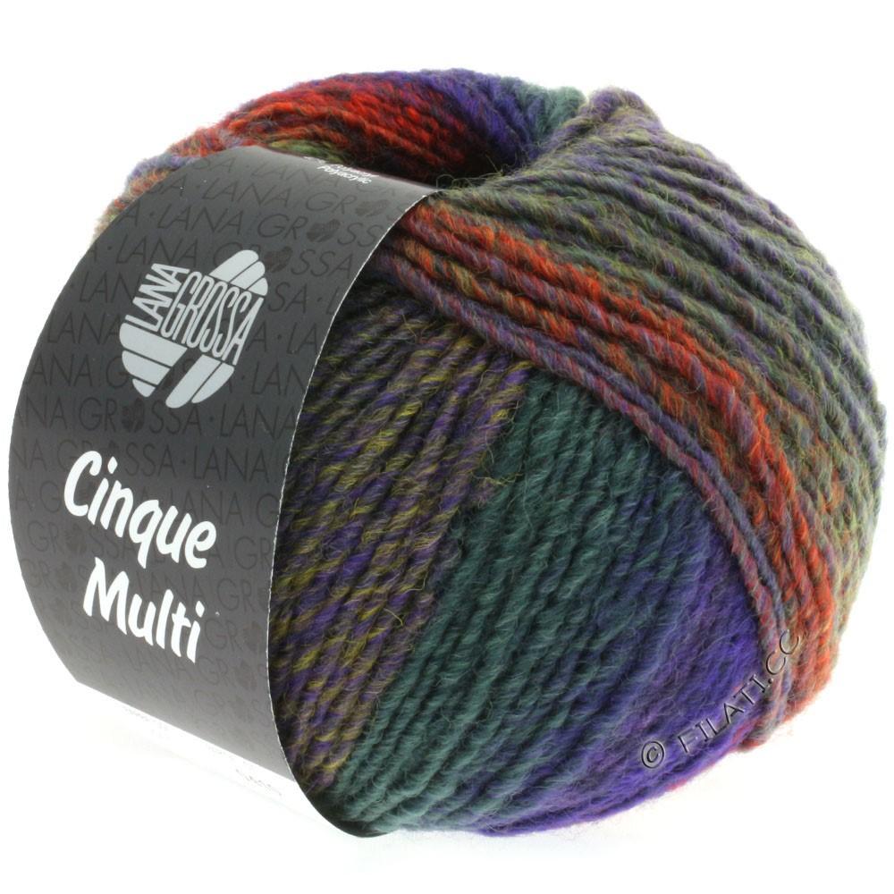 Lana Grossa CINQUE MULTI | 15-blue violet/mustard/light green/pink/red/green mottled