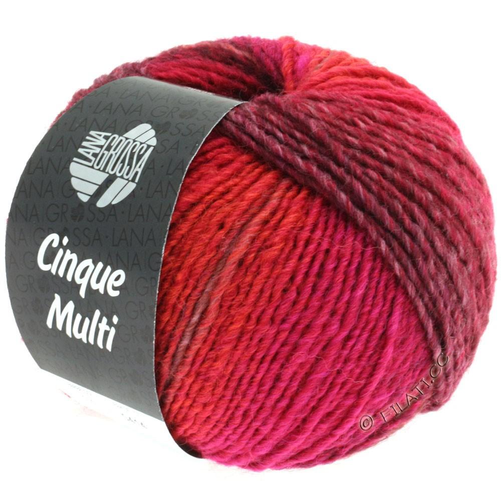 Lana Grossa CINQUE MULTI | 16-dark red/light red/rose/blackberry mottled