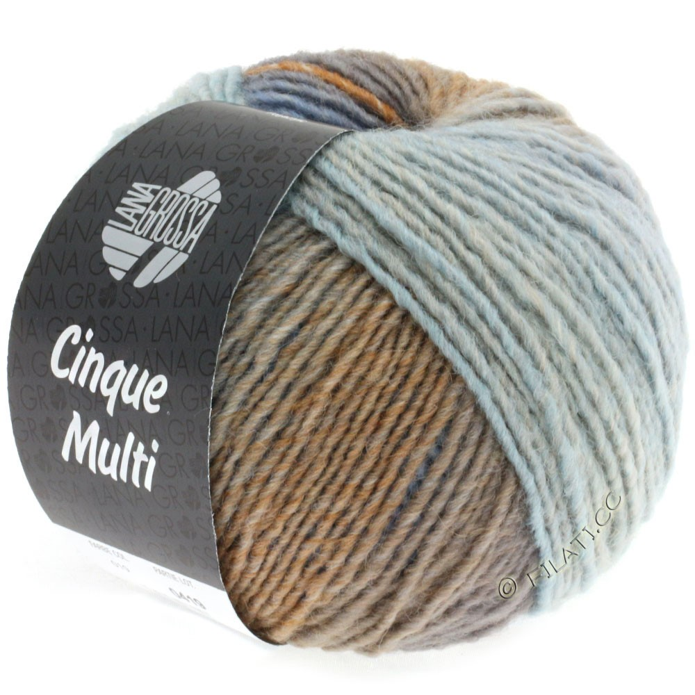Lana Grossa CINQUE MULTI | 19-light blue/beige/gray blue/taupe/grège mottled