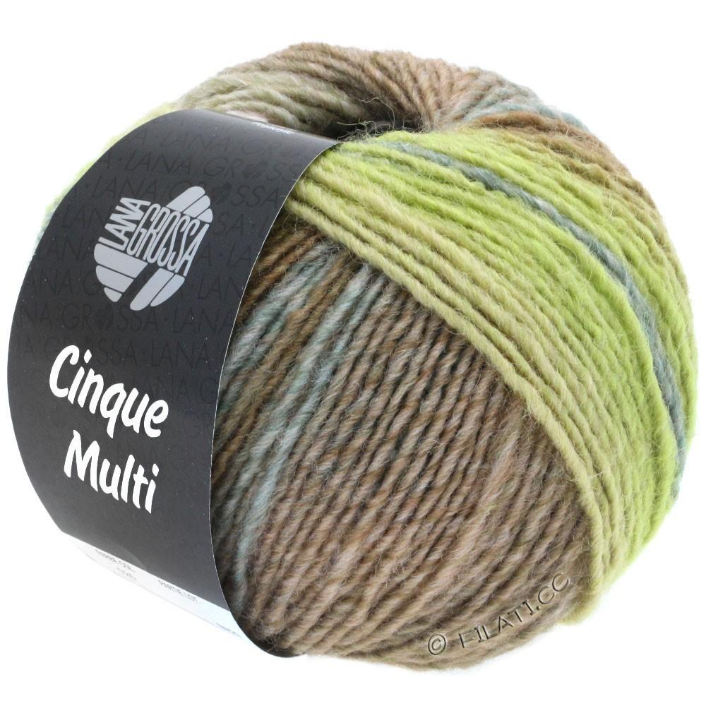 Lana Grossa CINQUE MULTI | 26-gray green/blackberry/lilac/tulipwood/mustard mottled