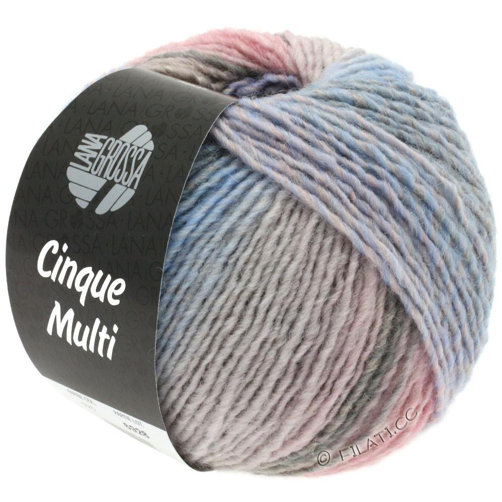 Lana Grossa CINQUE MULTI | 27-purple/rose/beige/gray/light blue/grège mottled