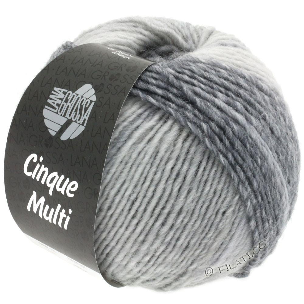 Lana Grossa CINQUE MULTI | 28-white/light gray/medium gray/dark gray/anthracite mottled