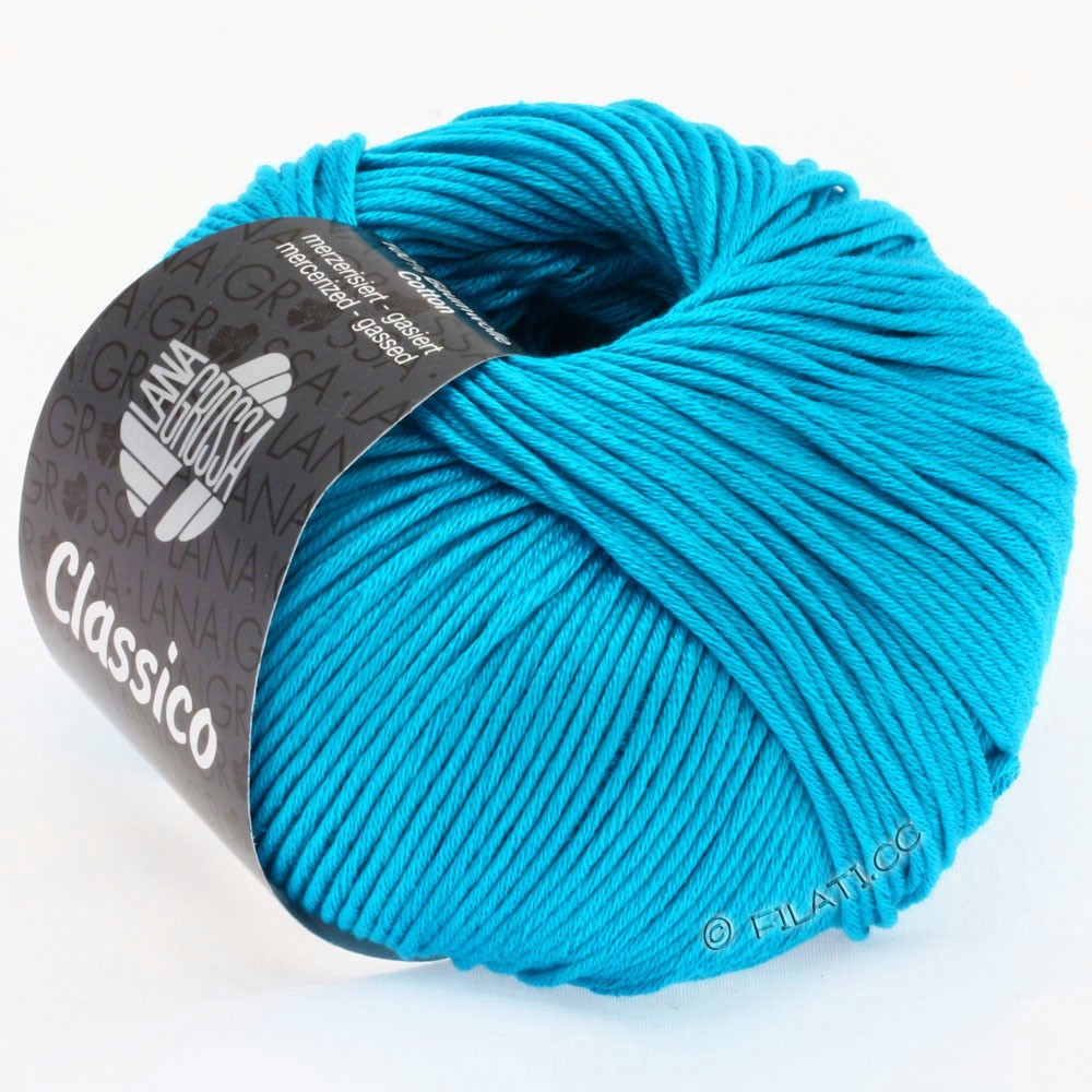 Lana Grossa CLASSICO Uni | 14-turquoise blue