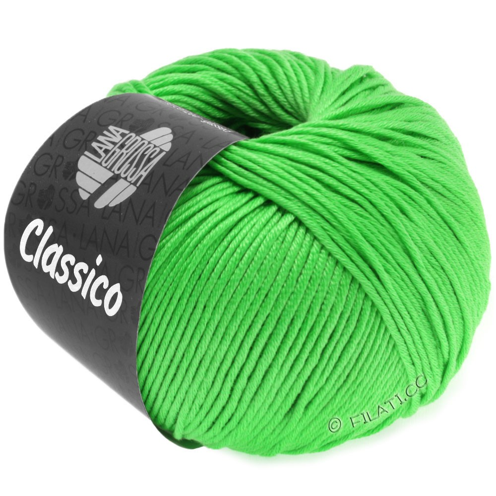 Lana Grossa CLASSICO Uni | 44-luminous green
