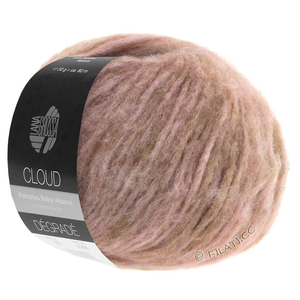 Lana Grossa CLOUD Degradé | 101-beige/tulipwood/antique pink