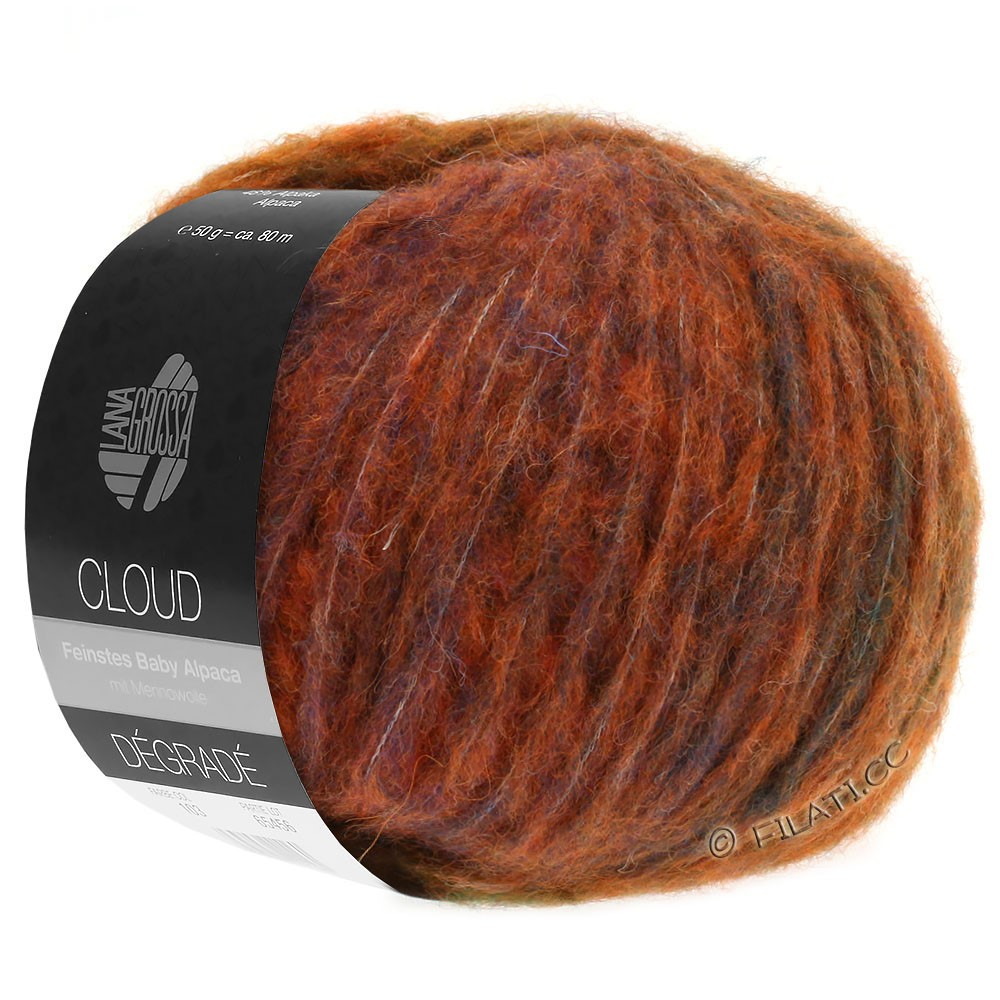 Lana Grossa CLOUD Dégradé | 103-copper/khaki