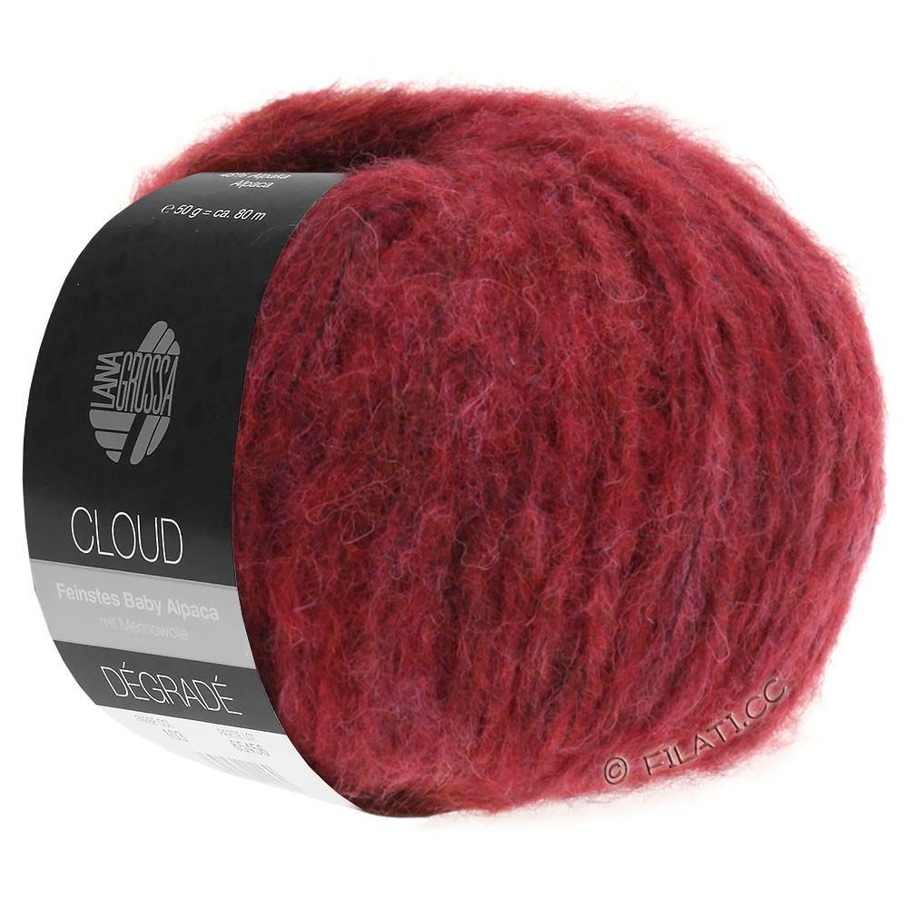 Lana Grossa CLOUD Degradé | 104-red violet/brick red