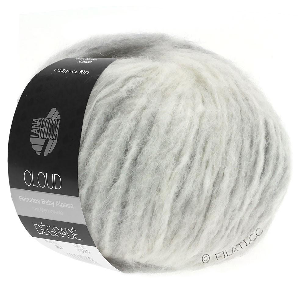 Lana Grossa CLOUD Degradé | 110-light gray/raw white