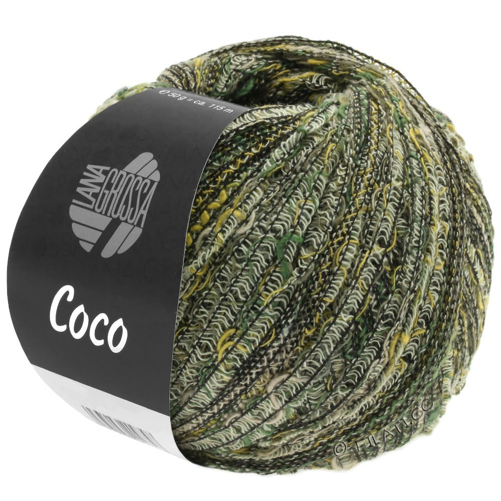 Lana Grossa COCO | 04-natural/mustard/gray green