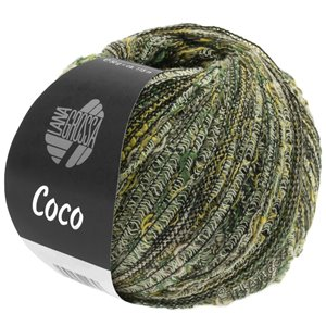 Lana Grossa COCO | 04-yellow/dark green/natural/gray brown