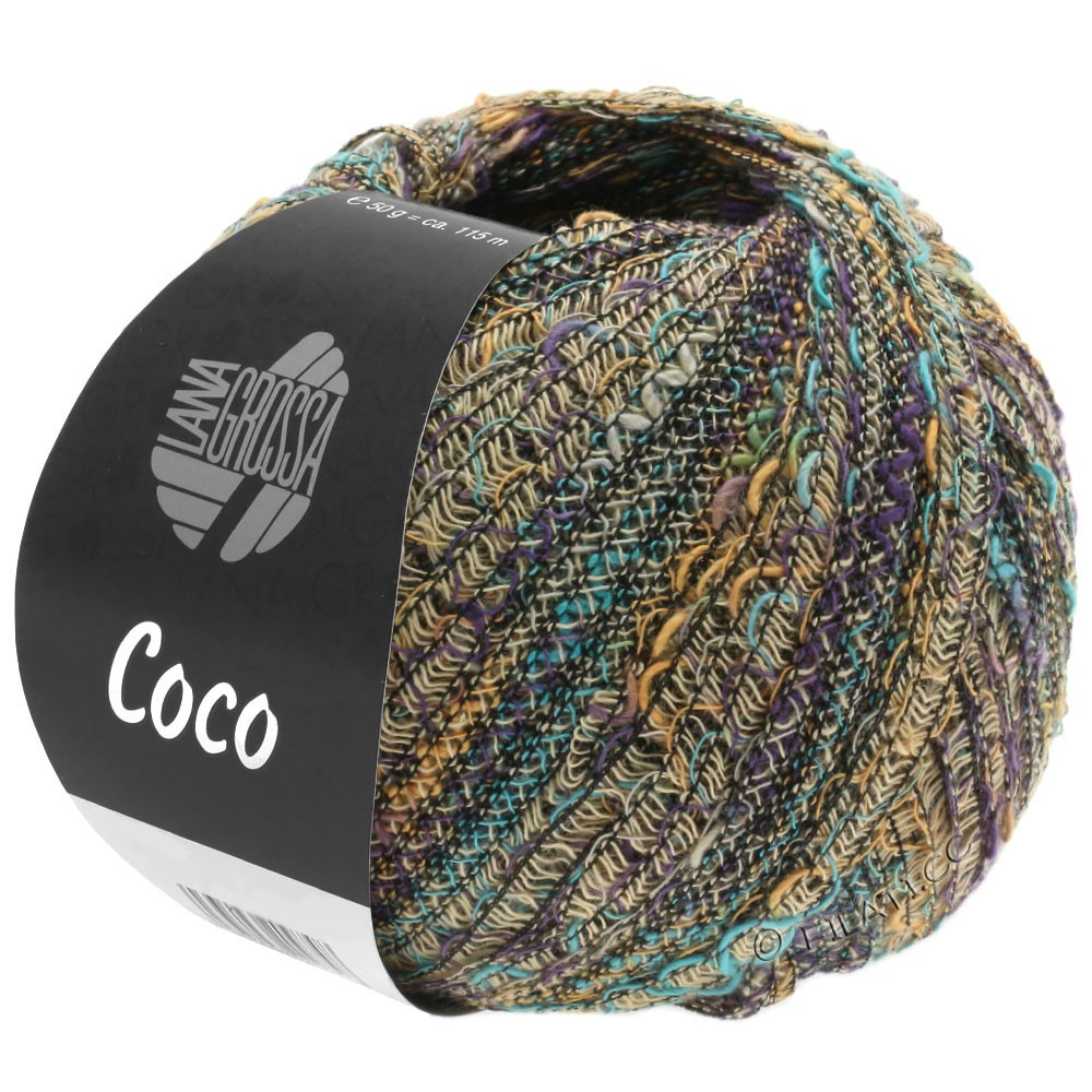 Lana Grossa COCO | 05-beige/camel/turquoise/violet