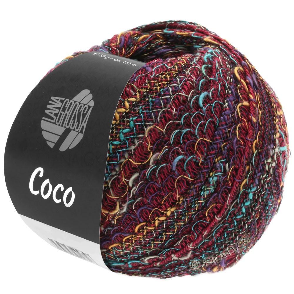 Lana Grossa COCO | 12-bordeaux/turquoise/camel/purple