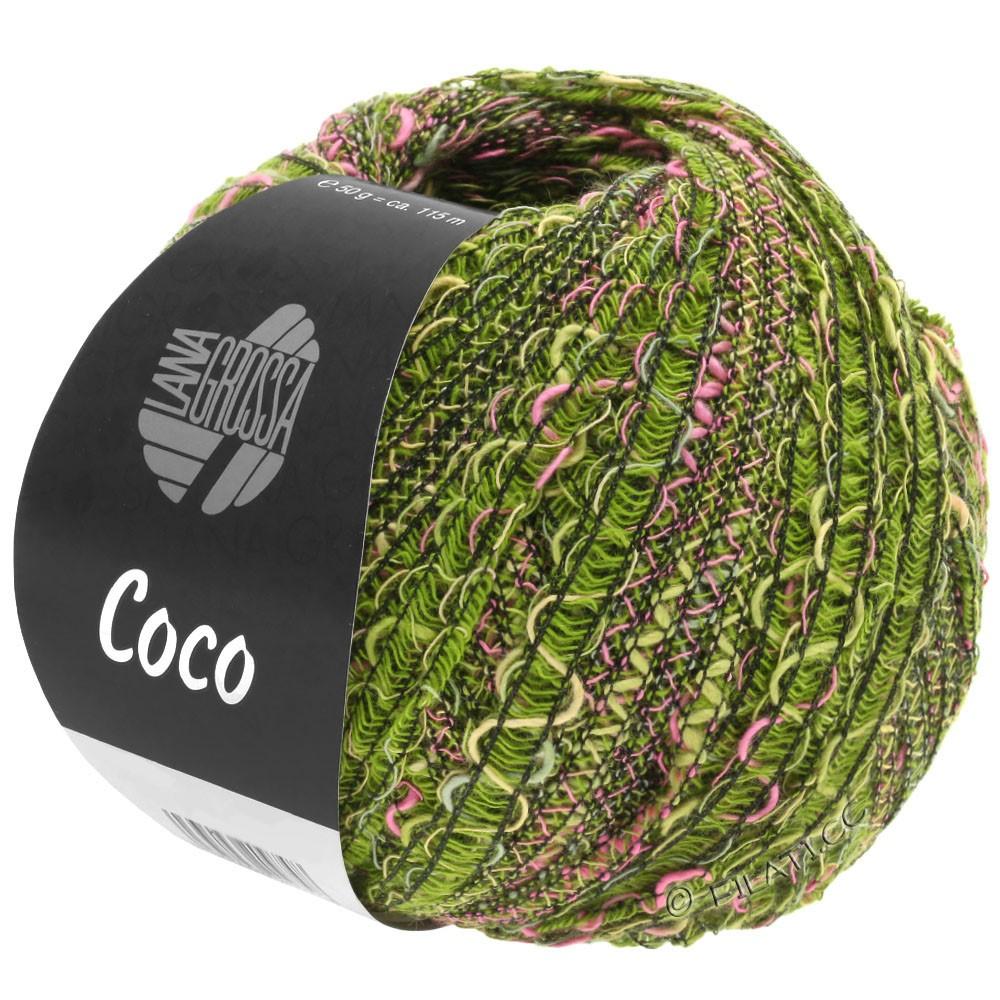Lana Grossa COCO | 16-olive/pink/dark green