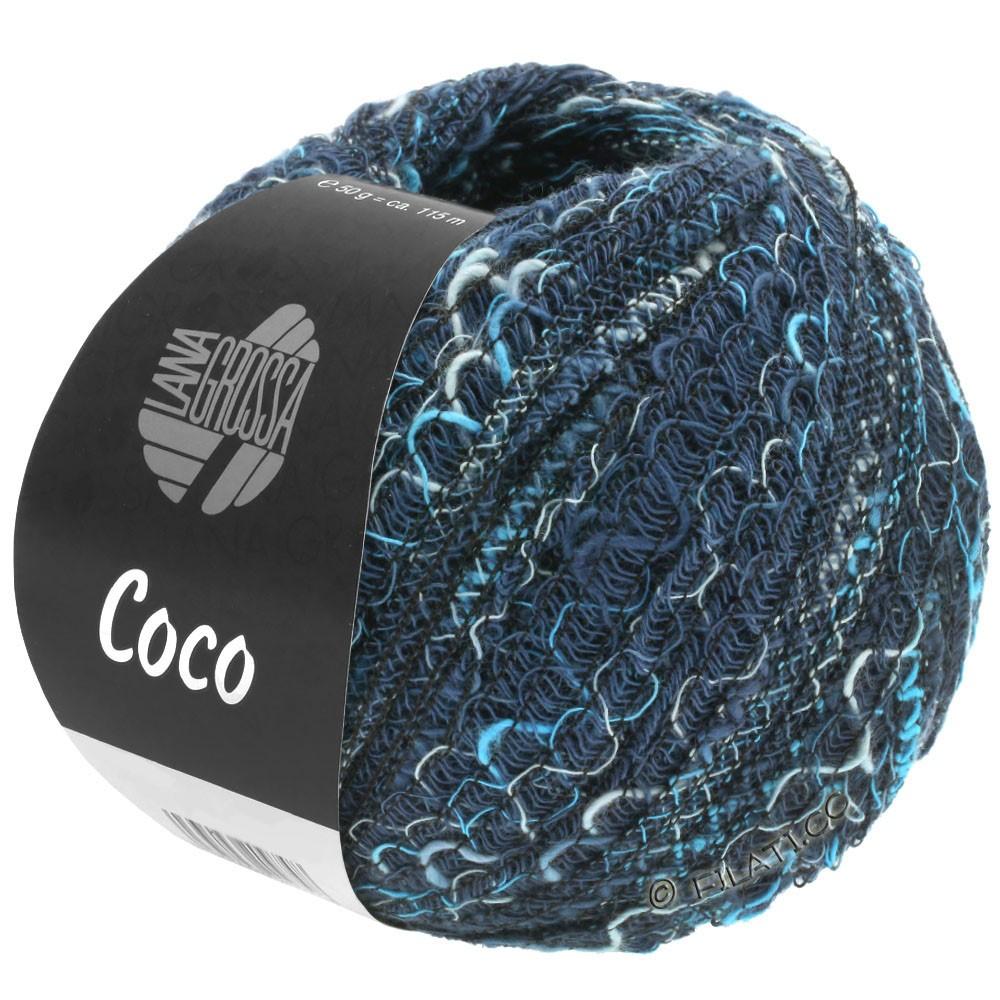 Lana Grossa COCO | 17-navy/light blue/blue turquoise