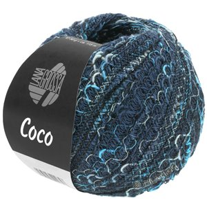 Lana Grossa COCO | 17-navy/light blue/blue turquoise