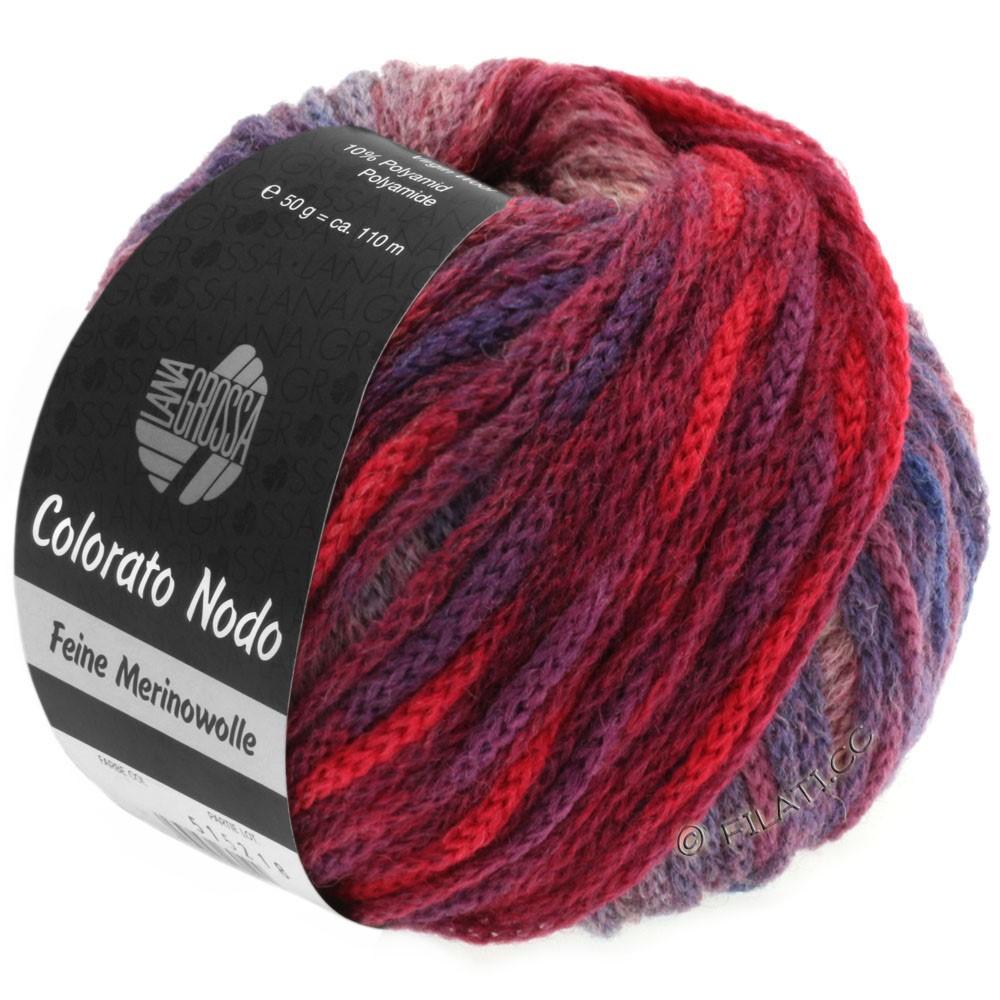 Lana Grossa COLORATO NODO | 104-blue violet/red violet/khaki/heather/cobalt blue