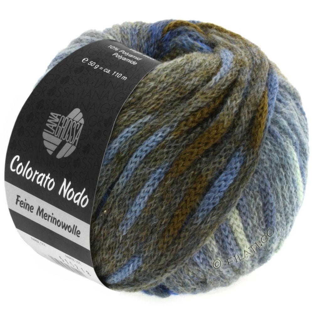 Lana Grossa COLORATO NODO | 106-gray blue/dove blue/anthracite/royal/khaki