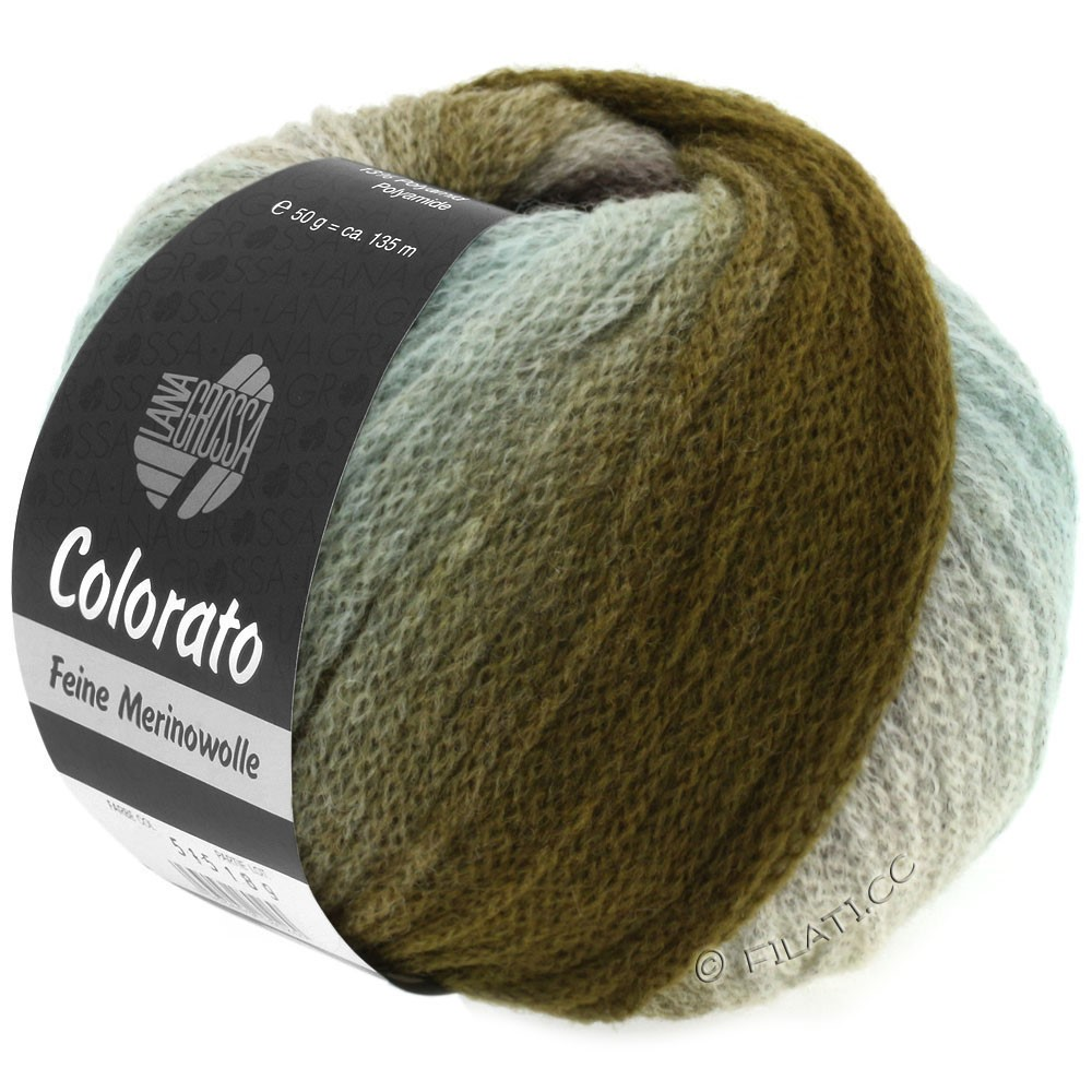 Lana Grossa COLORATO | 006-mint/khaki/mocha/black brown