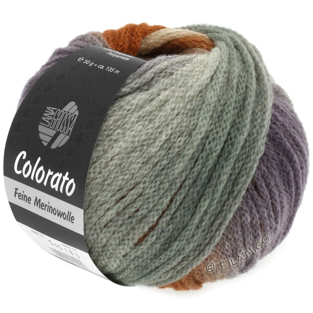 Lana Grossa COLORATO | 007-light gray/dark gray/rose/camel/gray brown