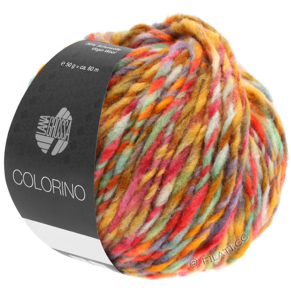 Lana Grossa COLORINO | 02-petrol/light green/blue/brown
