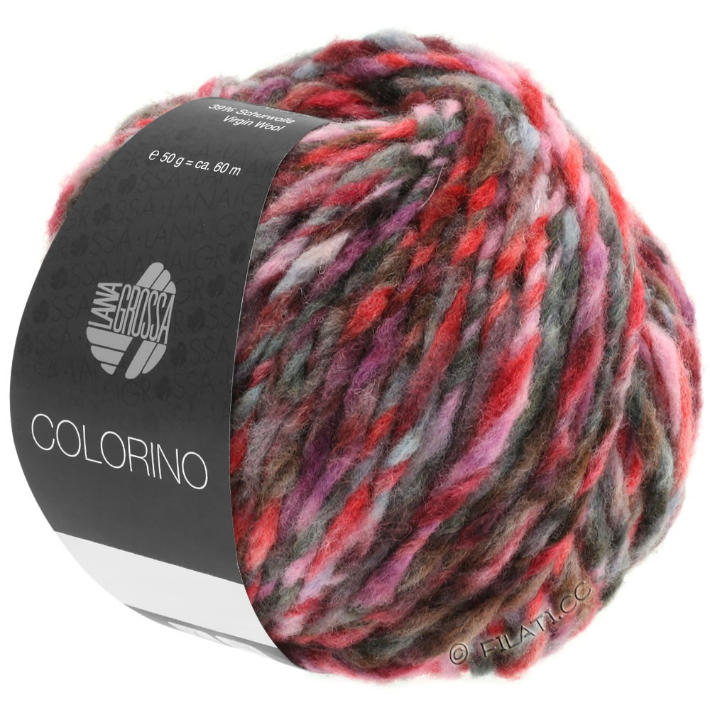Lana Grossa COLORINO | 03-red/rose/gray/burgundy/anthracite