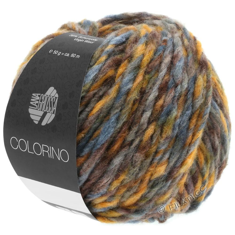 Lana Grossa COLORINO | 05-brown/ochre/gray blue/gray green