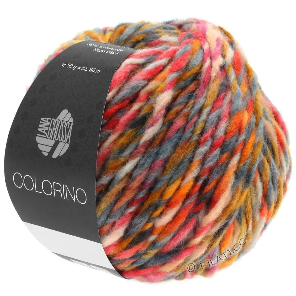 Lana Grossa COLORINO | 06-orange/camel/dark brown/gray
