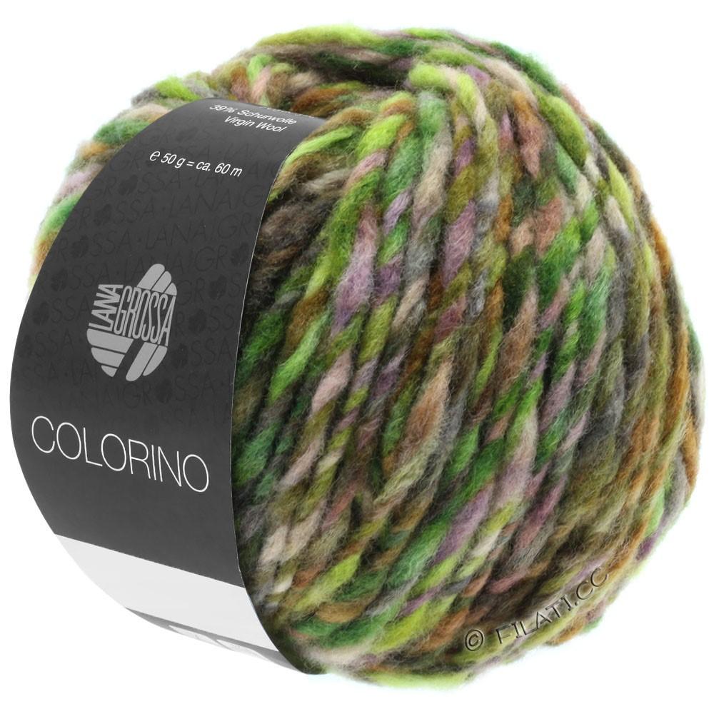 Lana Grossa COLORINO | 08-green/dark brown/lemon/petrol