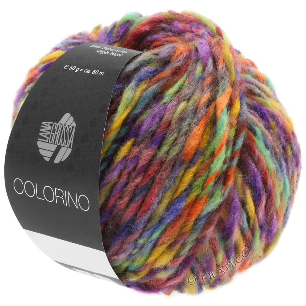 Lana Grossa COLORINO | 09-red violet/blue violet/petrol/ochre/dark brown